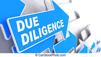 Due Diligence on Blue Direction Arrow Sign. - Due Diligence....
