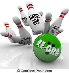 Re-Org Words Bowling Ball Striking Status Quo Organization...