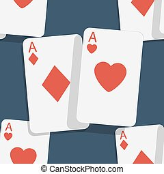 Casino poker seamless background