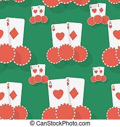Casino poker seamless background Flat style