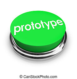 Prototype Word Green Button Product Concept Sample Mock-Up -...