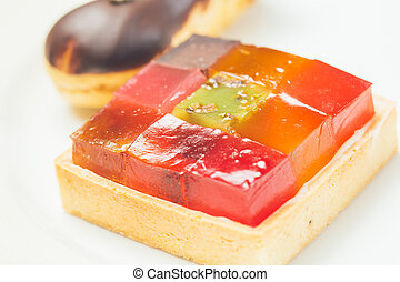 Colorful jelly dessert Warm colors Shallow dof
