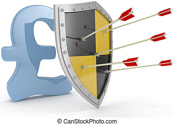 Shield protect safe Pound money security - Security shield...