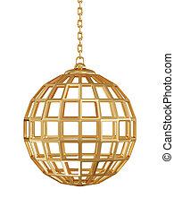 Golden gate sphere - 3d render of golden gate sphere wuth...