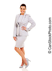 businesswoman standing on white background - beautiful...