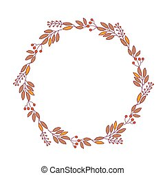 decorative elements - A decorative element, round frame with...