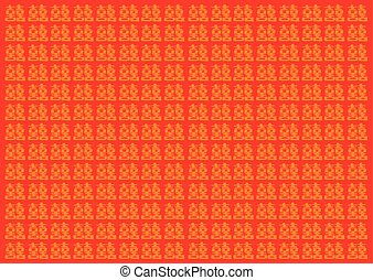 Traditional Chinese Double Happinesss Red Vector Background