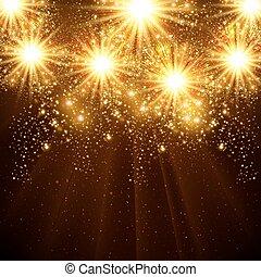 szczęśliwy, nowy, rok, 2015, Wektor, celebrowanie, tło,...