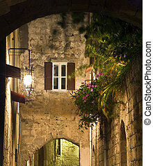 Medieval city of Rhodes in Greece