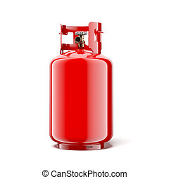 Gas bottle isolated on a white background 3d render