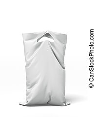 Plastic bag  isolated on a white background. 3d render