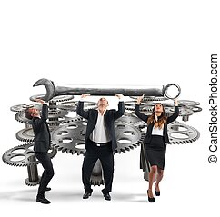 Maintenance of a system of gears - Business team makes...
