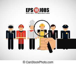 jobs design - jobs design , vector illustration