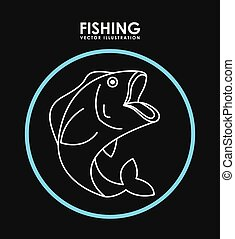 fishing design , vector illustration