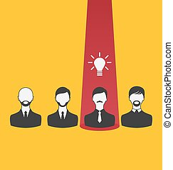Emergence new creative idea, icon of business people -...