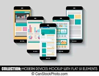 Touch screen archivi di illustrazioni e clipart for Proiettato in piani porticato gratis