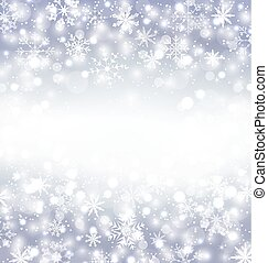 Navidad purple background with snowflakes and copy space for...
