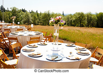 Wedding Reception Dining Table - Dining table at a wedding...