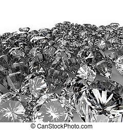 diamantes, 3D, composición, en, blanco,