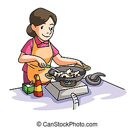 House Wife cooking