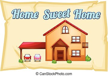 Home sweet home poster illustration