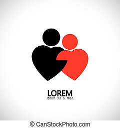 icons for bonding, love & lovers, couple, pair - concept...