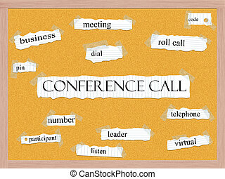 Conference Call Corkboard Word Concept with great terms such...