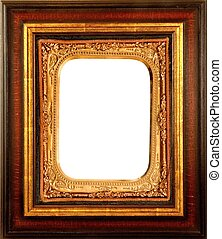 ANTIQUE DECORATIVE PICTURE FRAME - vintage wood and...