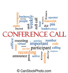 Conference Call Word Cloud Concept with great terms such as...