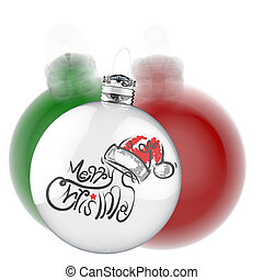 Merry Christmas in ornament ball