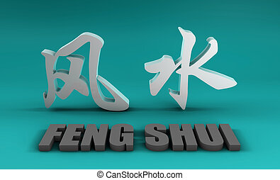 Feng Shui - A Feng Shui Auspicious Art Abstract Background