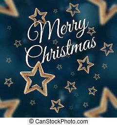 Feliz, Natal, ligado, a, noturna, estrelas, seamless,...