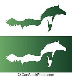 Vector image of an two horse.