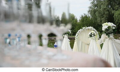 white arch for wedding