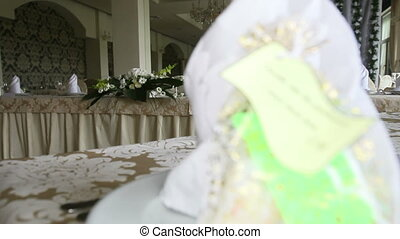 gift for wedding guest wedding table close up