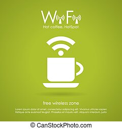 Wi-fi cafe icon - Wi-fi cafe vector icon