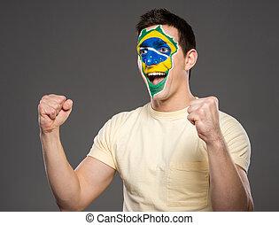 Gesicht, Flaggen, Kunst