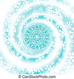 Snow blizzard swirl. Winter background. Vector illustration.