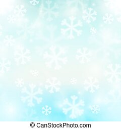 Winter background, snowflakes and soft colors - Abstract...