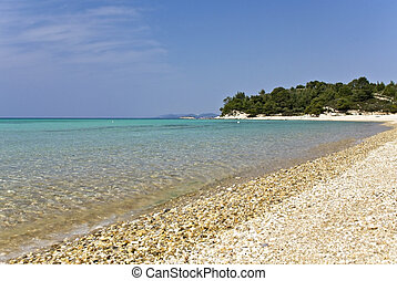 Beach at Chalkidiki, Greece kalogria area