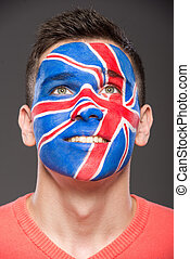 Face art. Flags.