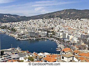City of Kavala in Greece (aerial view)