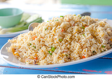 Crab Fried Rice is delicious for thai food