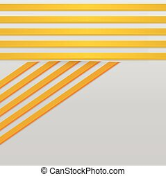 Yellow stripes - Abstract background with 3d yellow stripes
