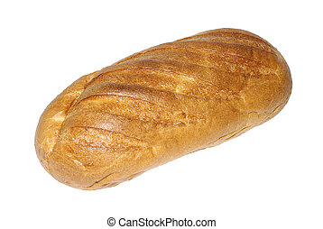 Studio shot of bread isolated on white background.