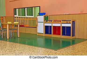 large living room of a nursery