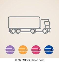 vector cargo truck icons