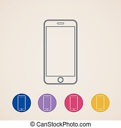vector mobile phone icons