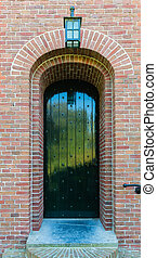 Church - Door of an church of the dutch village of...