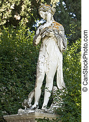 Statue showing a greek mythical muse